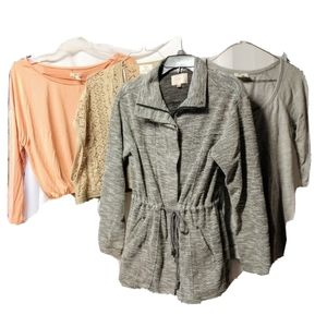 Anthropologie lot 4 piece size XS coat tops